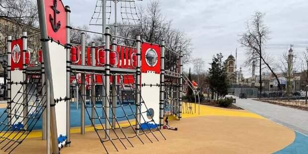 Место самостроя в районе Коптево заняли детская площадка и сквер