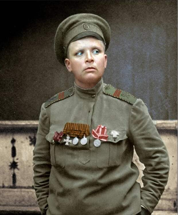 "Командир женского ""батальона смерти"" Мария Бочкарева, 22.11.1917"