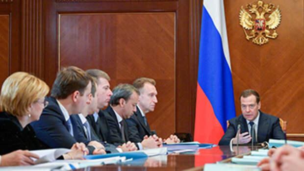 Правительство России уходит вполном составе
