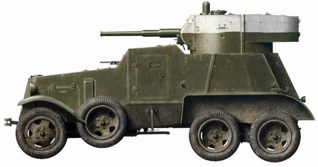 БА-3: советский средний пушечный бронеавтомобиль