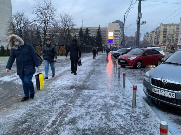 Ледяной локдаун в Киеве