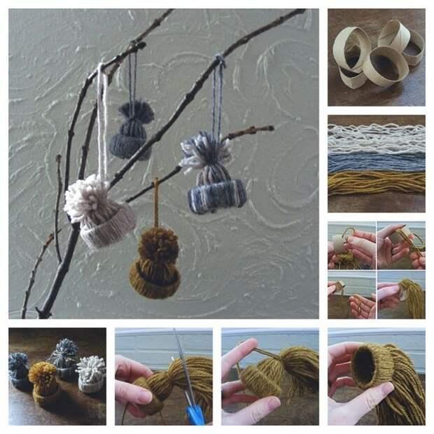Потрясающие украшения из пряжи без использования иголки