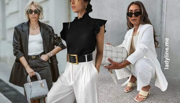 Всегда актуально и стильно! 18 образов в черном и белом цветах