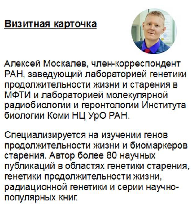 Генетик Алексей Москалев о питании и старении