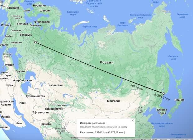 """Тут """"всего"""" 6400 км"""