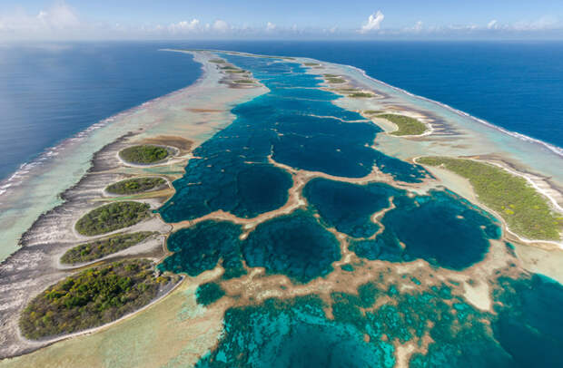 Самый красивый атолл в мире: Каролайн, Кирибати