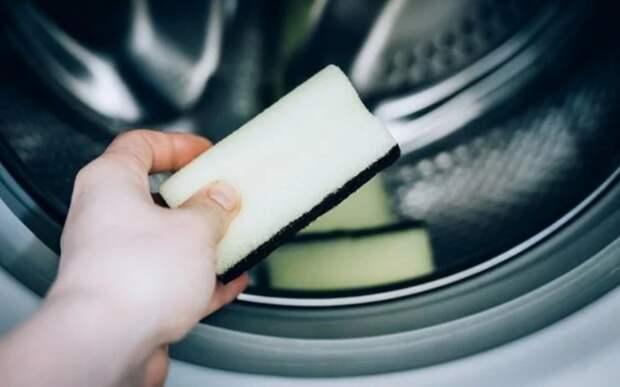 Чистка губки для мытья посуды
