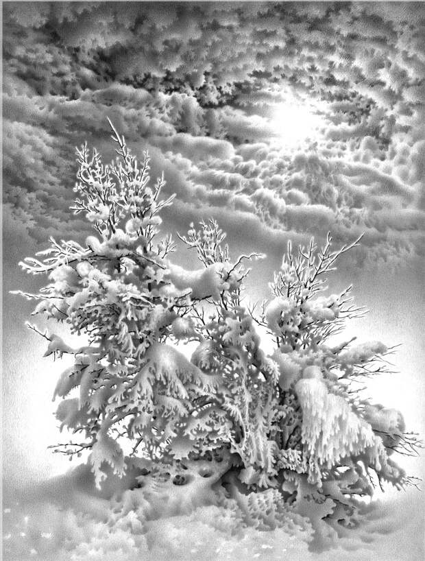 Художник, что рисует снег