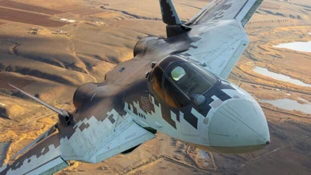 Истребитель Су-57 оснастят оборудованием для управления группой беспилотников