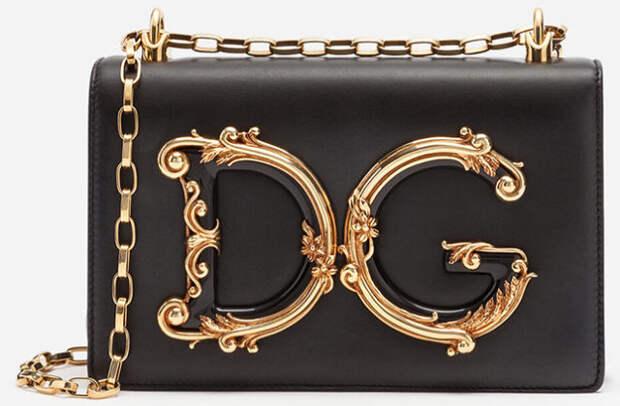 черная сумочка на цепочке dolce and gabbana