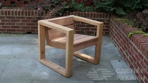 Как сделать деревянный стул с подлокотниками