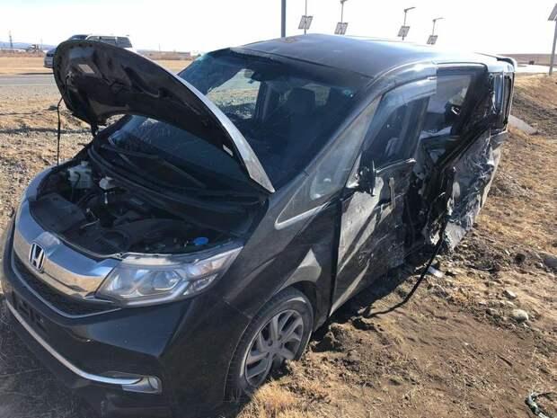 Водитель спровоцировал ДТП на федеральной трассе в Забайкалье