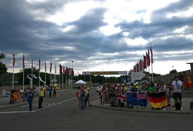 Финиш гонки Формулы 1 на Хунгароринге, возможно, пройдет под дождем