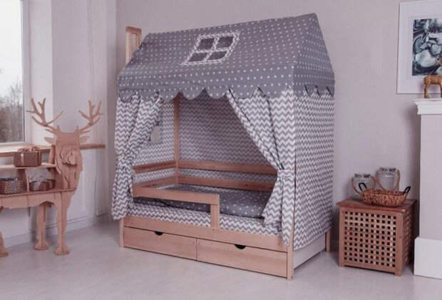 Кровать-домик для ребенка своими руками