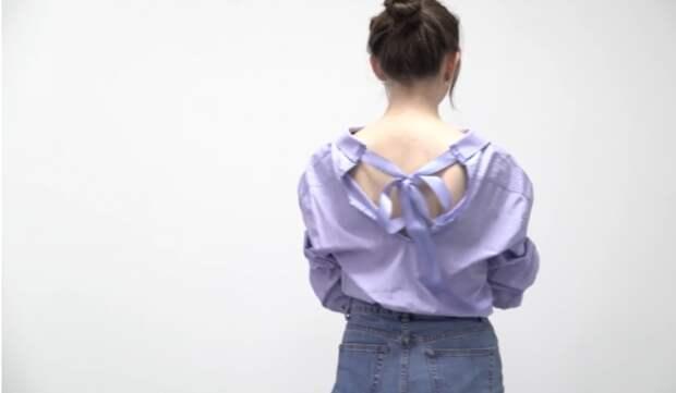 Блузка из рубашки(diy)