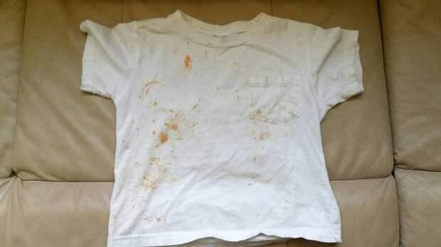 Жёлтые пятна на белой одежде после стирки
