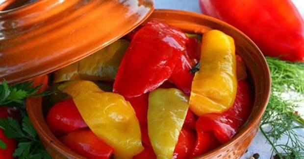 Перец в масле — готовим замечательный маринованный перец