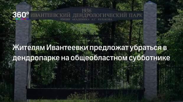Жителям Ивантеевки предложат убраться в дендропарке на общеобластном субботнике
