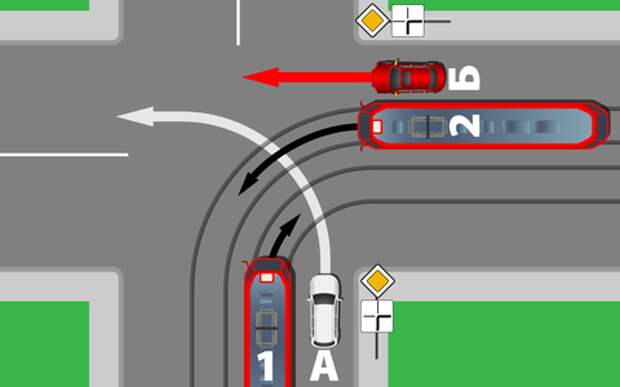Автомобили против трамваев - проверь себя на знание ПДД
