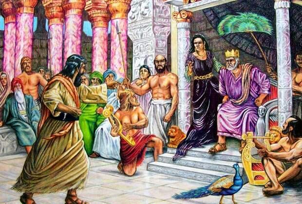 Пророк Илия изобличает Ахава (Иллюстрация из открытых источников)
