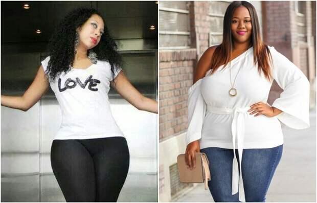 Обтягивающая футболка и туника - не лучший вариант