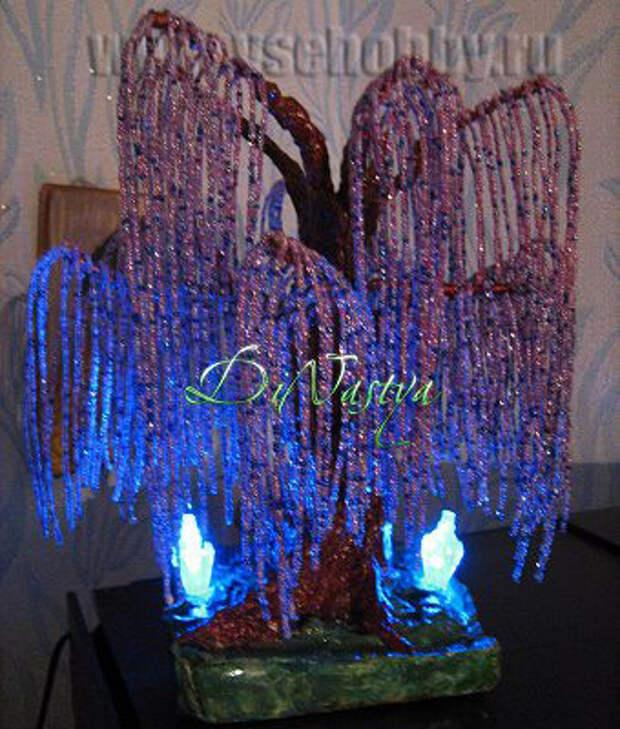 дерево Эйва своими руками из бисера проволоки и гипса готово