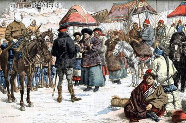 Британские военные в Лхасе в 1904 г.
