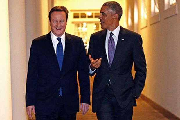 Обама и Кэмерон договорились продолжить давление на Россию