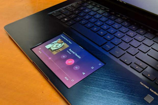 ASUS показали ноутбук без рамок и вторым дисплеем вместо тачпада