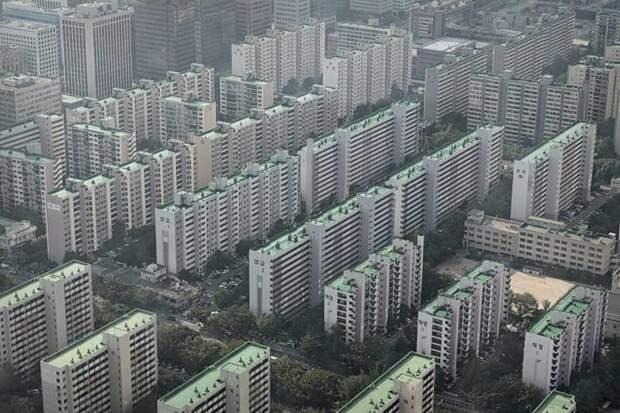 5. Большая часть Южной Кореи тоже покрыта квартирами жилая застройка, каменные джунгли, квартиры, фото, человеческий муравейник