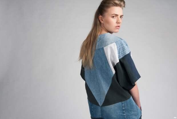 как перешить джинсы в платье