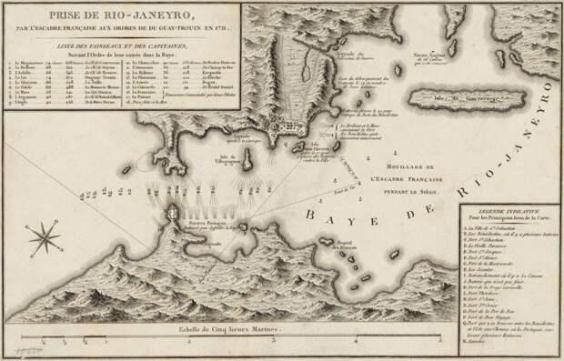 Сражение в бухте Рио-де-Жанейро, 1711 год. commons.wikimedia.org - На секретной службе Его Величества | Warspot.ru