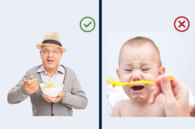 Почему манная каша так полезна для пожилых людей, но вредна детям?