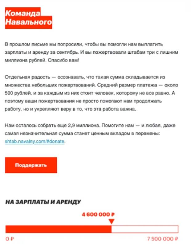 Корпорация Навального не может собрать деньги на зарплаты
