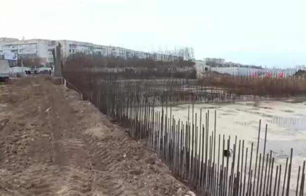 В Саках строят сооружения для сбора и очистки дождевой воды за 680 миллионов рублей