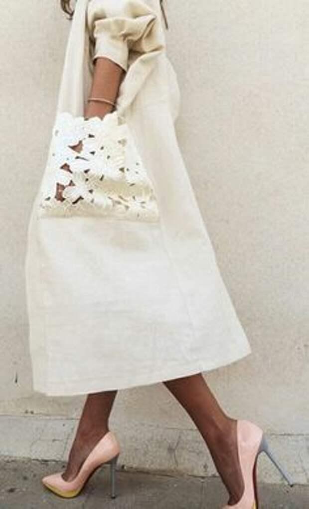 Ажурные карманы -  модная деталь этого сезона