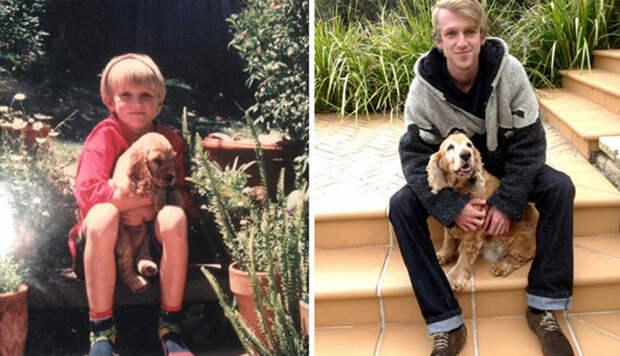 Выросли вместе: собаки и их хозяева в начале дружбы и через многолет