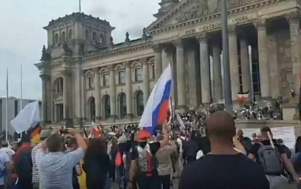 Почему митингующие в Берлине скандировали «Путин! Путин!»