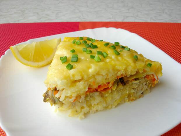 Рыбная запеканка на семейный обед или ужин Рецепт, Запеканка, Кулинария, Еда, Видео, Длиннопост, Рыба