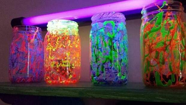 Люминесцентный декор для дома своими руками