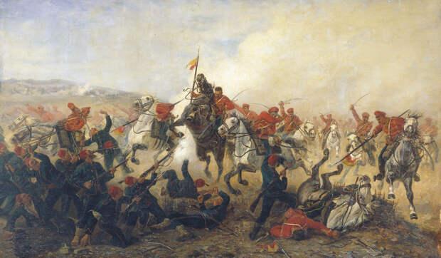 Дело при селении Телише в 1877 году, 1888. © Художник В. Мазуровский