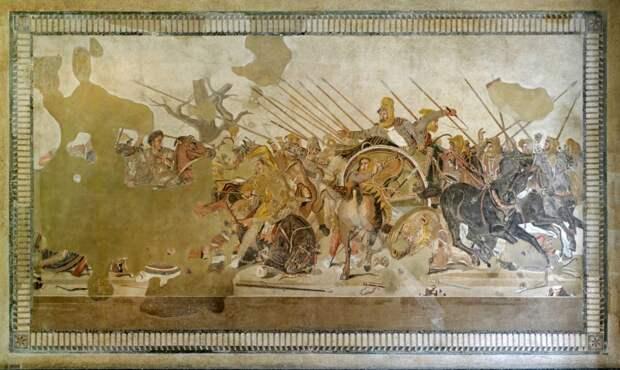 Александр и Дарий в битве при Иссе. <br>