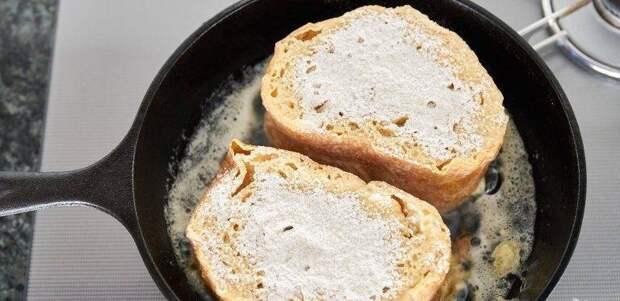 Гренки на сковороде: за 10 минут очень вкусный завтрак из творога и других доступных продуктов