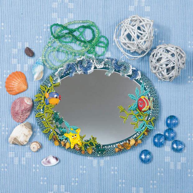 Рамка для зеркала, Лена рукоделие №11 2008, рамка, зеркало, рамка для зеркала, бисероплетение, Юлия Лындина