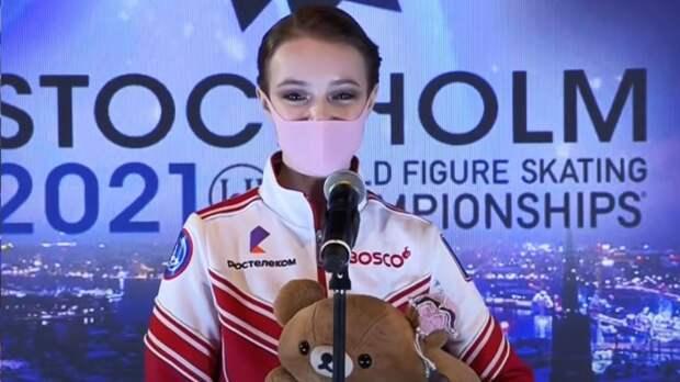 Россиянка Щербакова выиграла короткую программу на командном ЧМ в Осаке