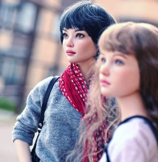 Настолько реалистичные куклы! Даже начинаешь верить, что они живые.
