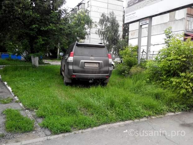 В Ижевске снова перестанут штрафовать за парковку на газонах