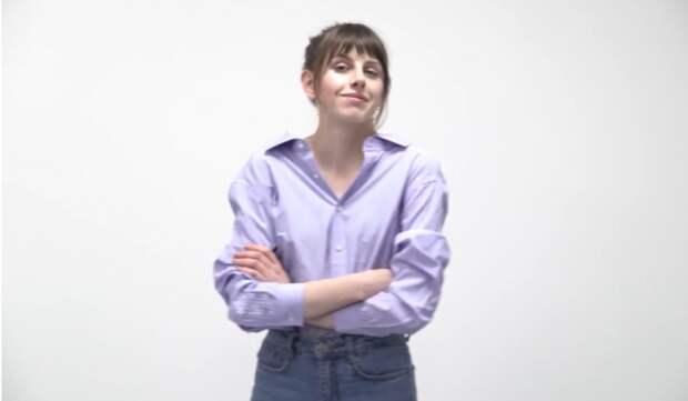 Необычная блузка из рубашки своими руками