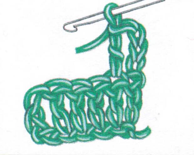 Как начинать следующий ряд, если сначала идет столбик с накидом (фото 2)