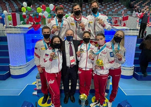 Фигуристы ЦСКА стали победителями командного чемпионата мира в составе сборной России